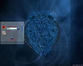 Tribal Lion Blue 1280