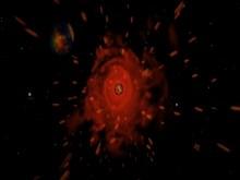 Asteroid through the universe