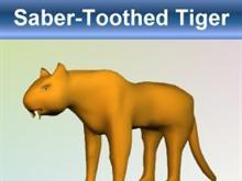 Golden Saber-Toothed Tiger