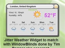 Jitter Weather Widget