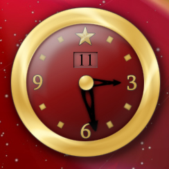 Holidays Imagine Clock