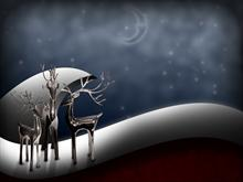 Holiday Chrome Reindeer