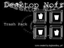 Desktop Noir Trash Icon Pack