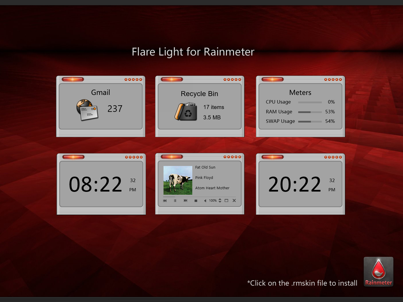 Flare Light Rainmeter