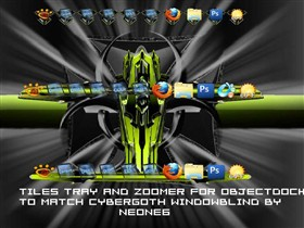 Cybergoth tiles, trays and Zoomer