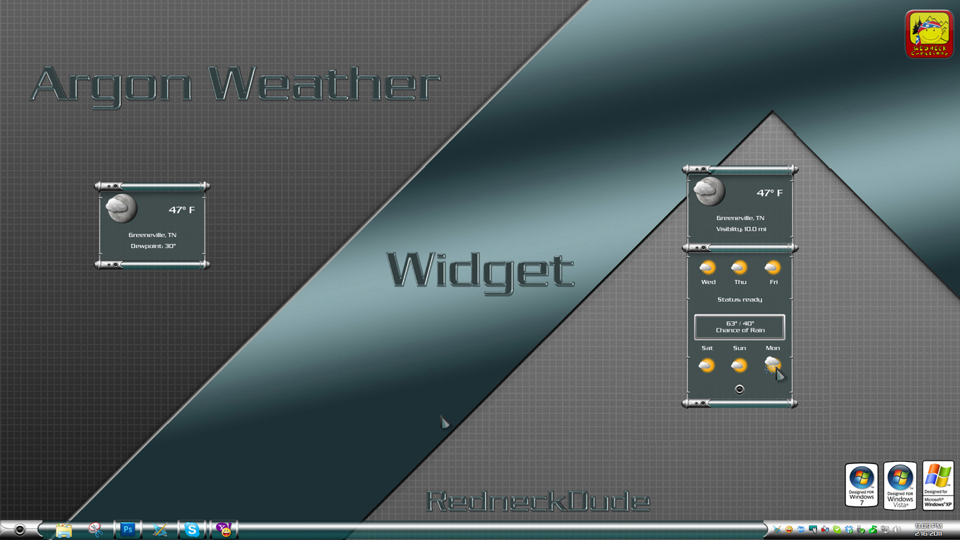 Argon Weather Widget