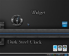 Dark Steel Clock Widget