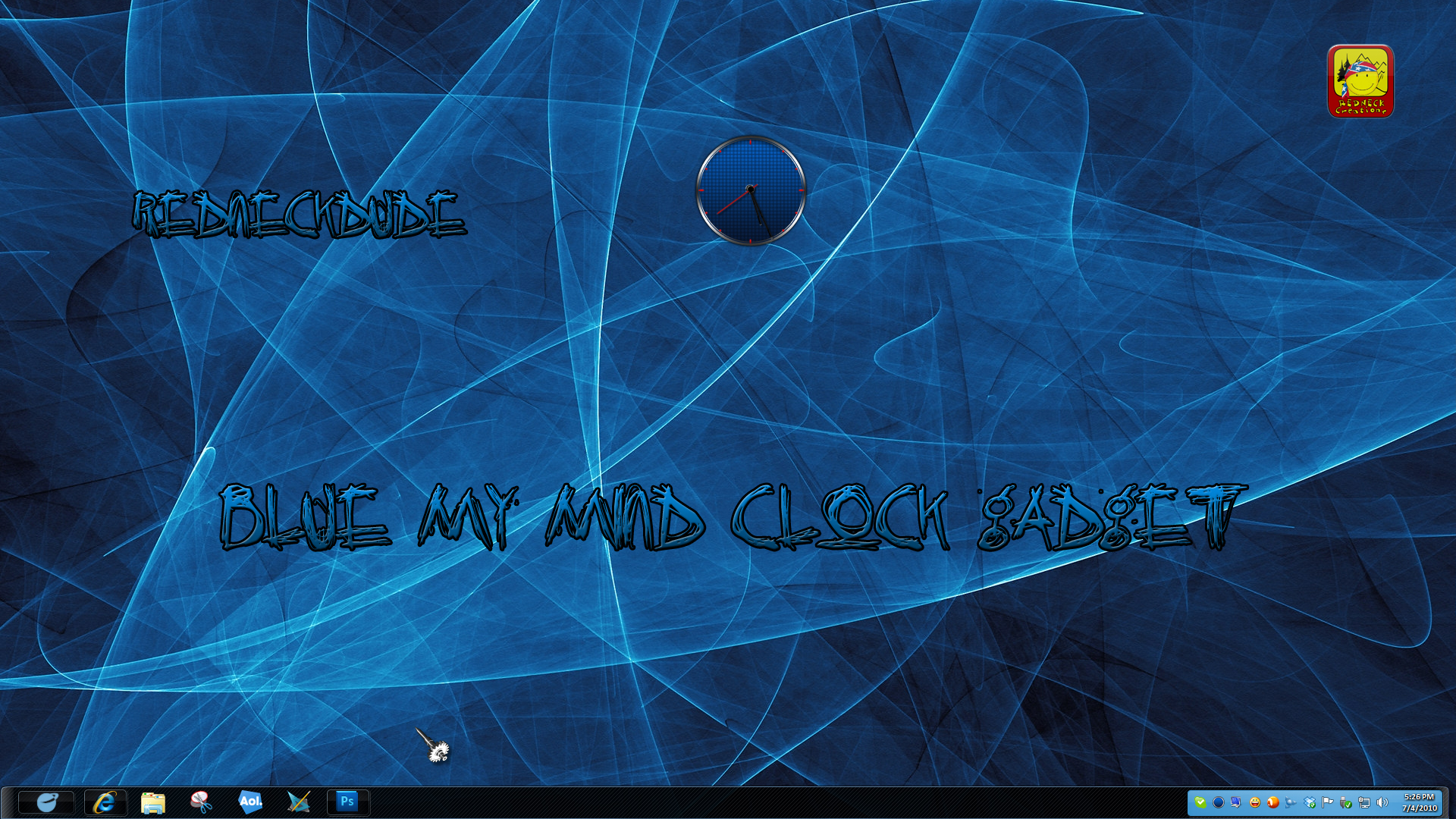 Blue My Mind Clock Gadget