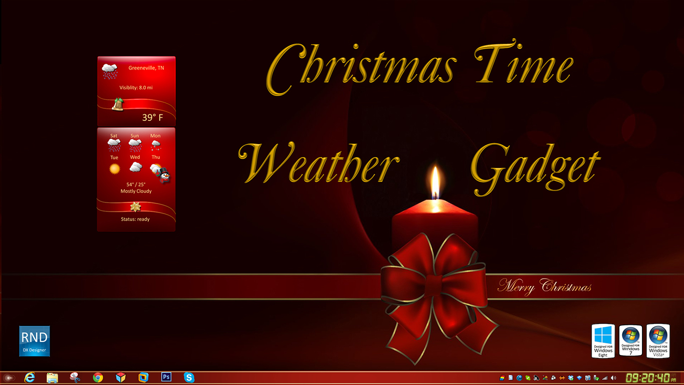 Christmas Time Weather Gadget