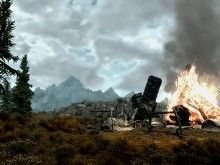 Skyrim Fire and Grass