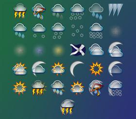 spil's weather icons