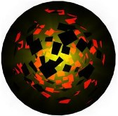 Animated 3D Icon Particles in Ball