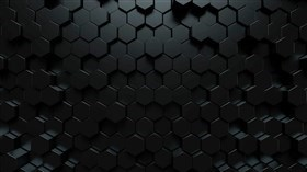 4K Black Hexagons